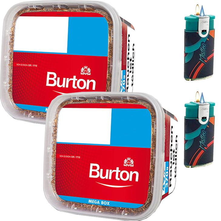 Burton 2 x 350g mit Duo Feuerzeugen