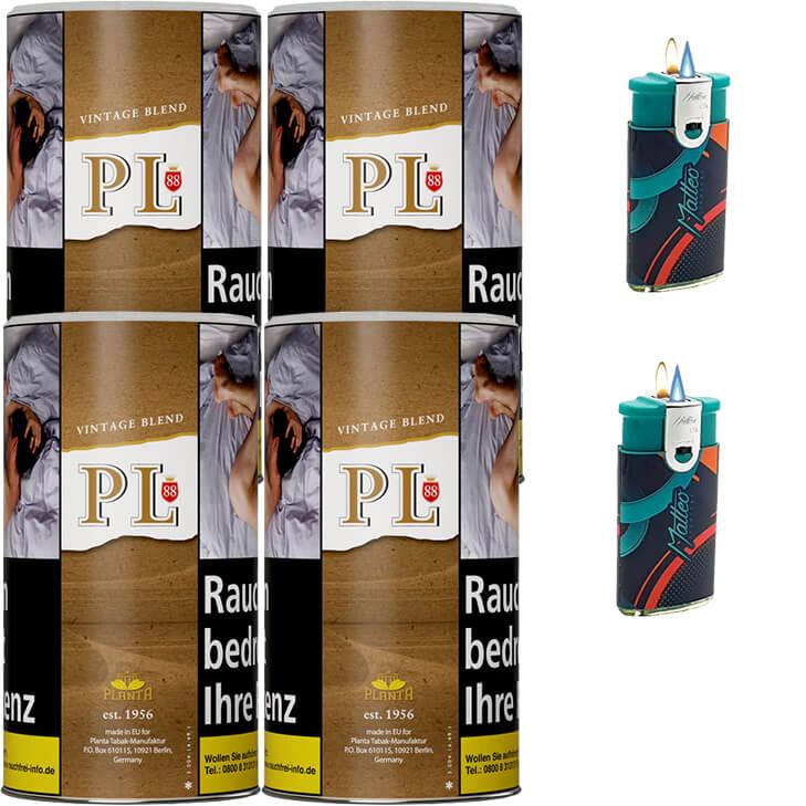 PL88 Authentic ohne Zusatzstoffe Just Tabak 4 x 200g Feinschnitt Uvm.