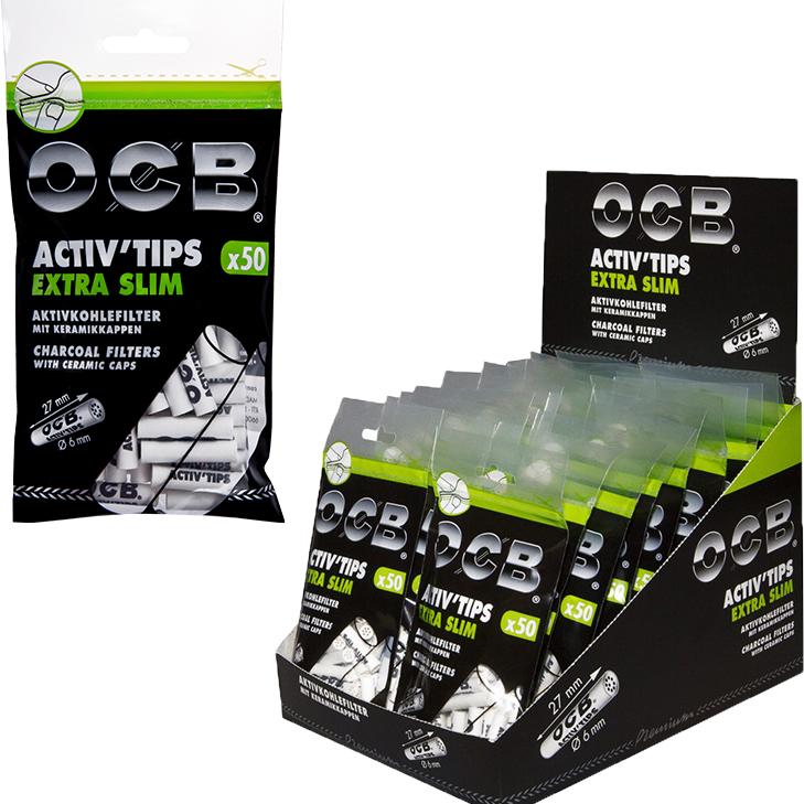OCB Activ'Tips Extra Slim 6 mm 20 x 50 Stück