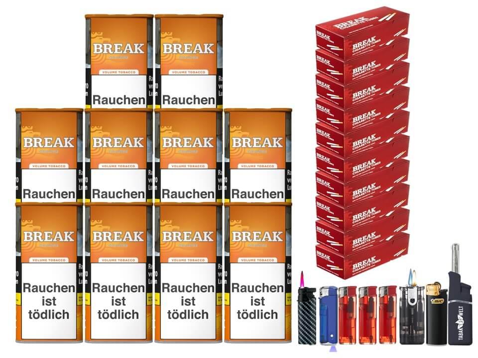 Break Orange 10 x 110g Volumentabak 2000 Break Filterhülsen Uvm.