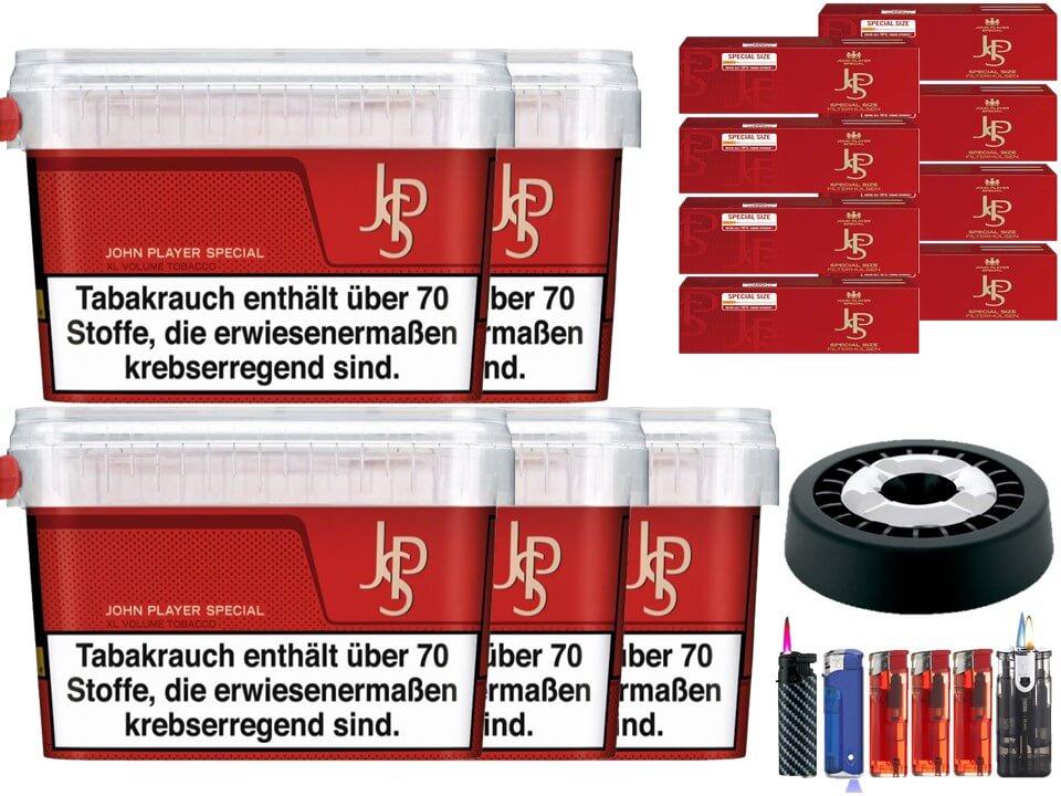 JPS John Player Mega Box 5 x 160g Volumentabak 2000 Filterhülsen Uvm.