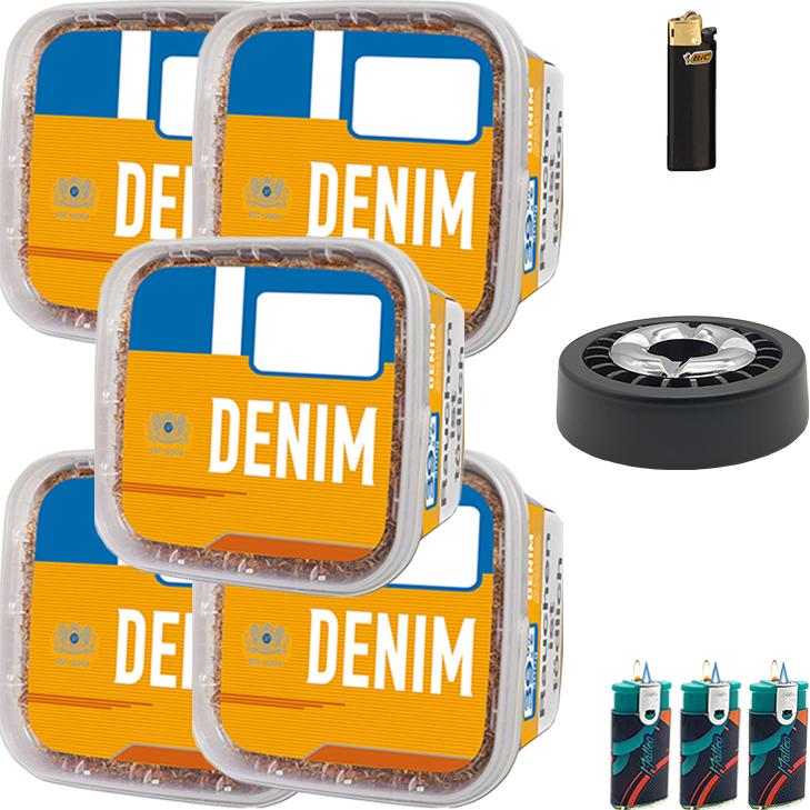 Denim Mega Box 5 x 290g mit Aschenbecher