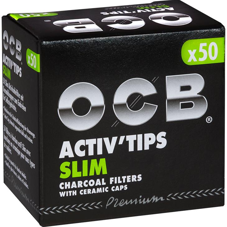 OCB Activ'Tips Slim 7 mm 50 Stück