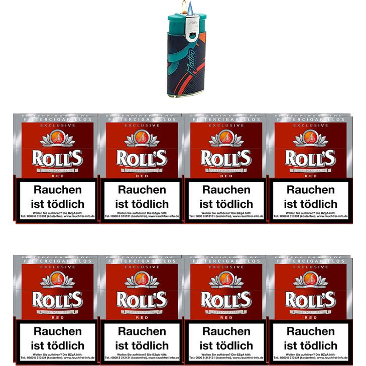 Rolls Exclusive Red Zigarillos mit Filter (2 Stangen) 16 x 23 Stück