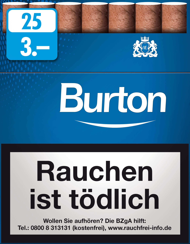 Burton Blue Zigarillos mit Filter (5 Stangen) 40 x 25 Stück