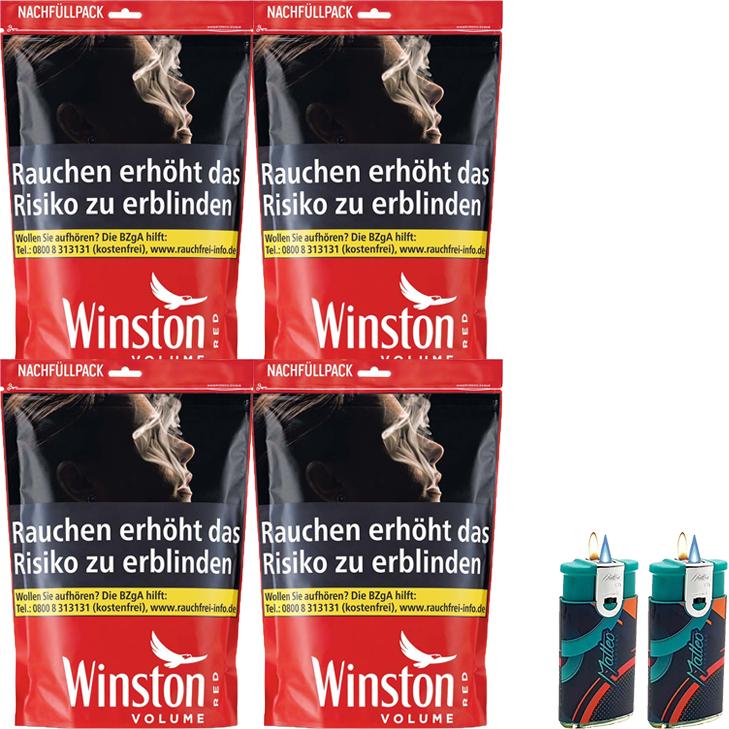Winston Red 4 x 135g mit Duo Feuerzeuge