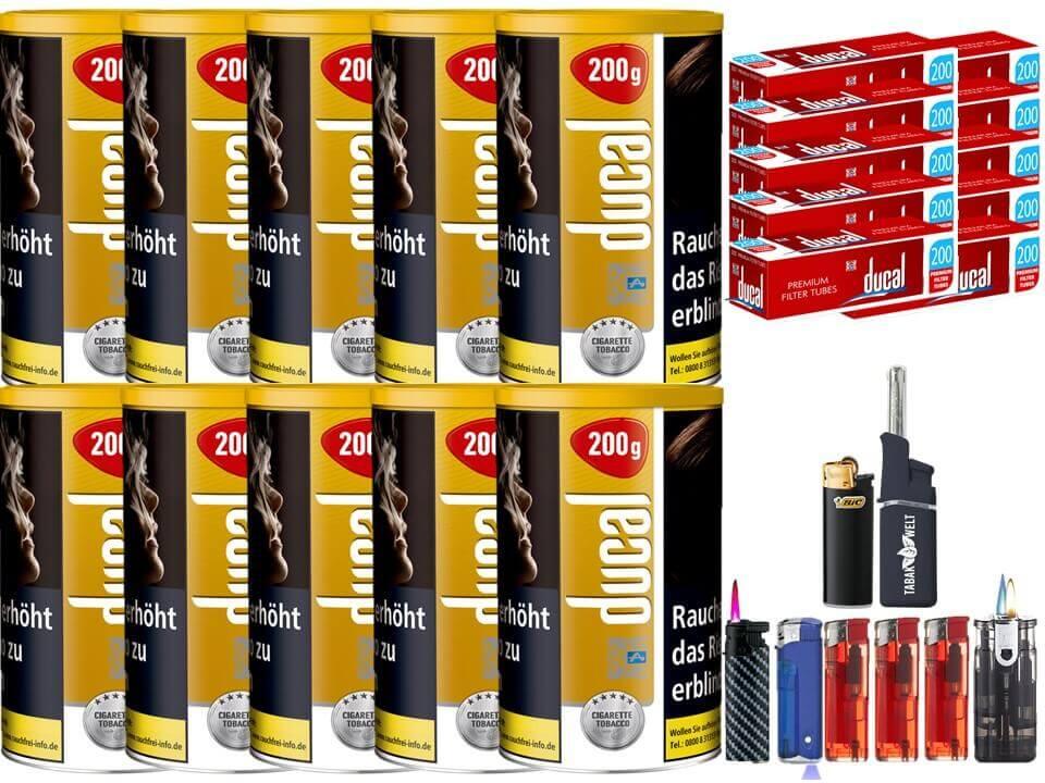Ducal Gold 10 x 200g Feinschnitt / Zigarettentabak 2000 Filterhülsen Uvm.