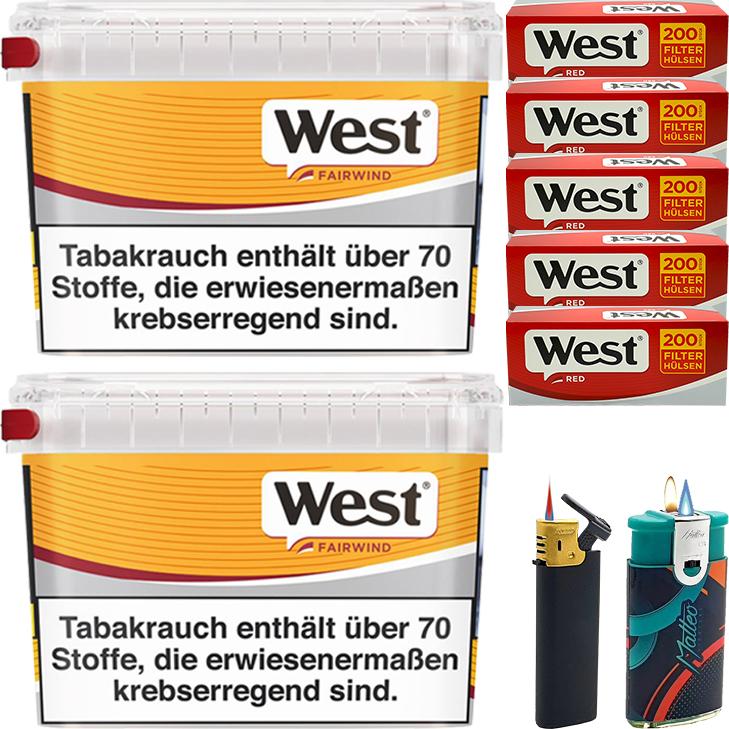 West Yellow Fairwind 2 x 215g mit 1000 King Size Hülsen