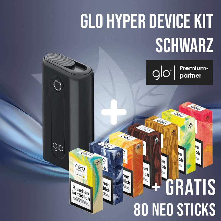 glo hyper Device Kit Black + Gratis neo Sticks