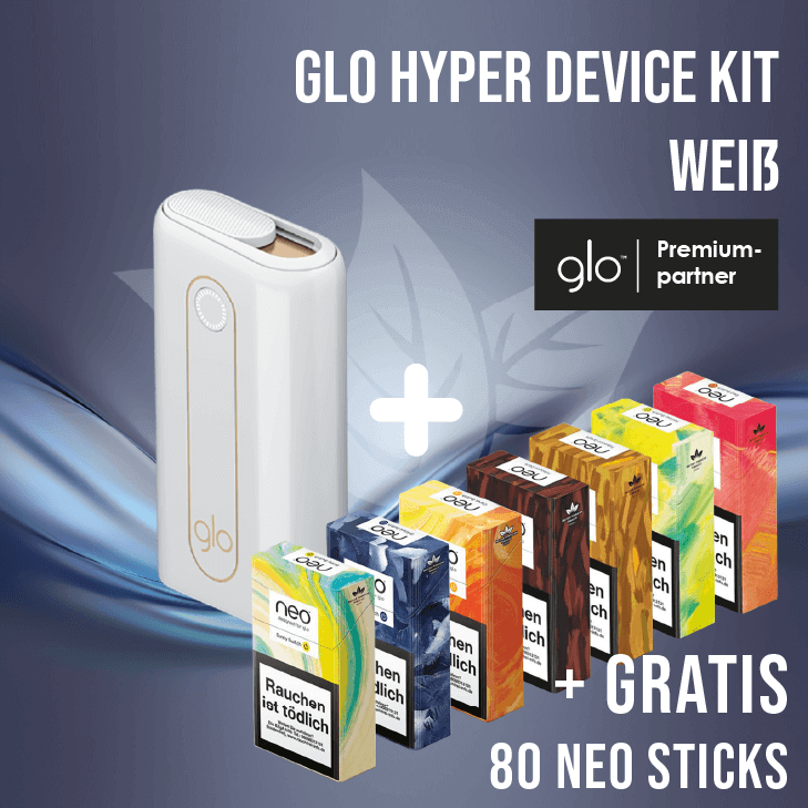 glo hyper Device Kit Weiss + Gratis neo Sticks