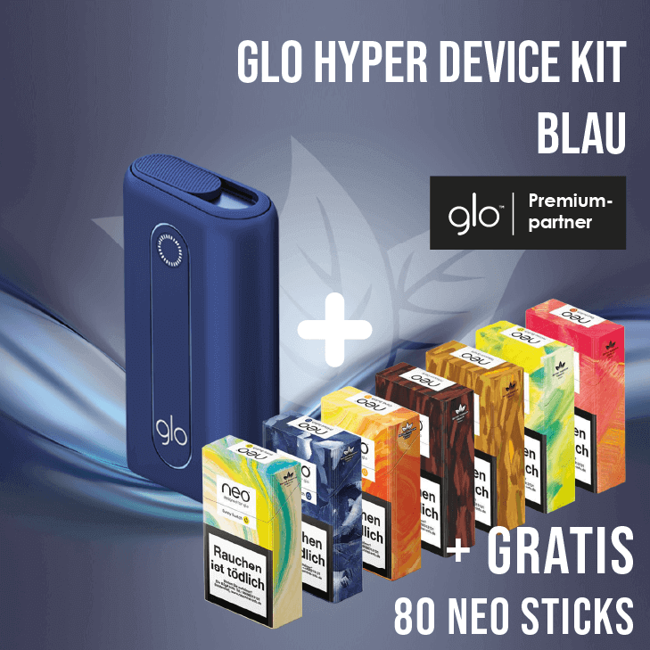 glo hyper Device Kit Blau + Gratis neo Sticks