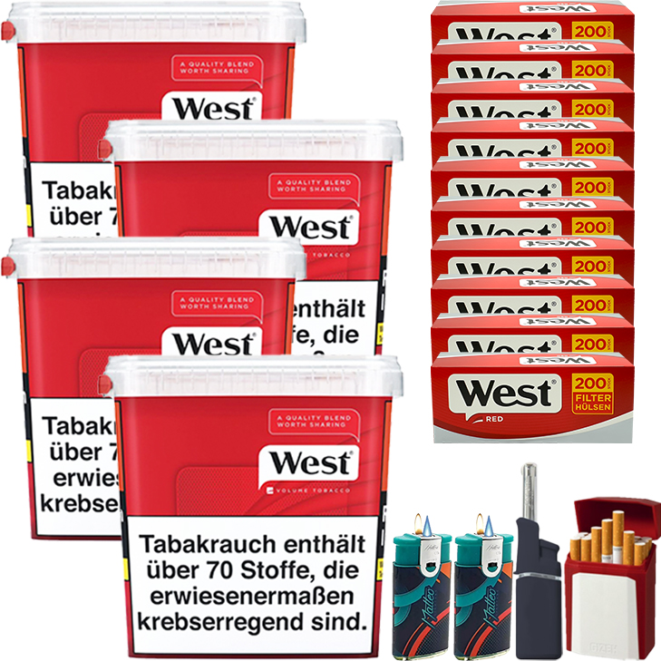 West Red 4 x 300g mit 2000 Hülsen