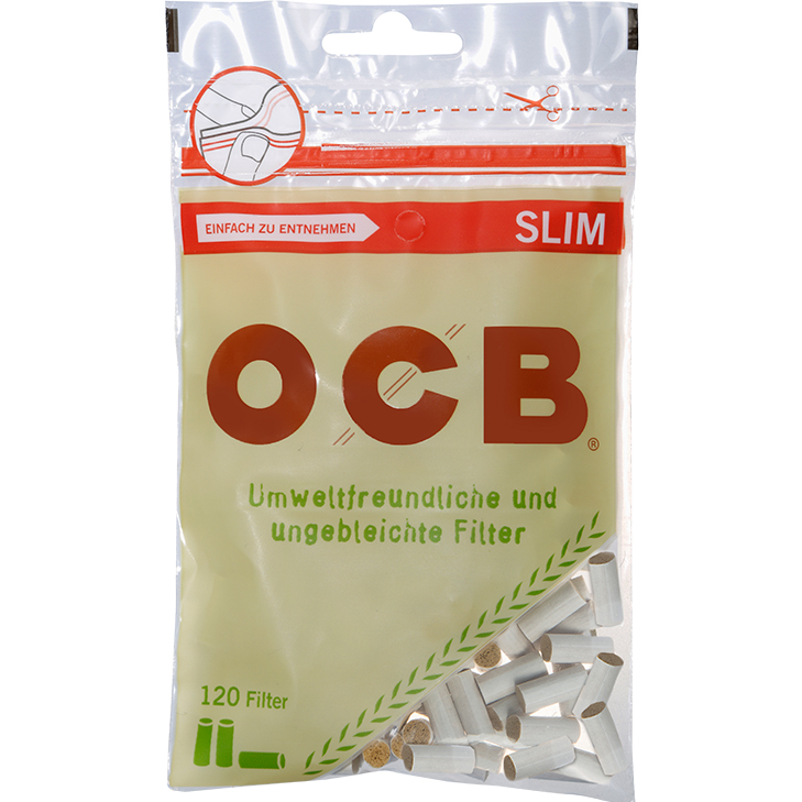 OCB Organic Slim Filter 6 mm 120 Stück