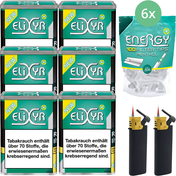 Elixyr Plus 6 x 115g mit Energy Plus Filter Menthol