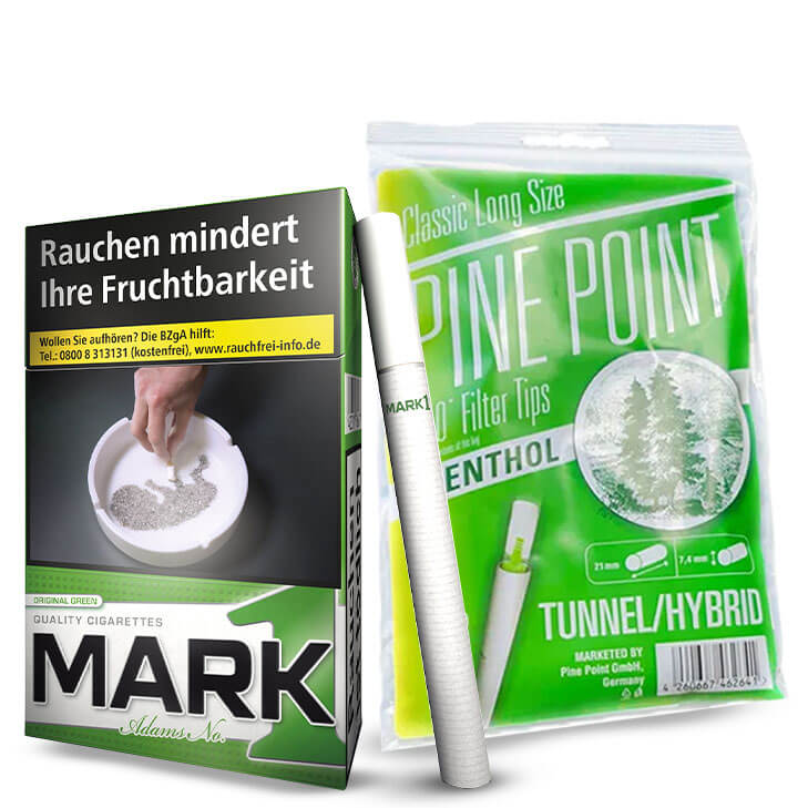 Mark 1 Menthol Zigaretten x 10 + Pine Points Filter Tips x 2