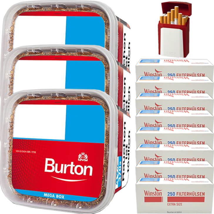 Burton 3 x 350g mit 2000 Special Size Hülsen