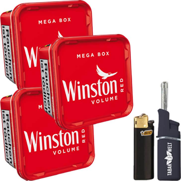 Winston Mega Box 3 x 170g mit Feuerzeuge