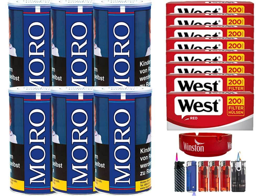 Moro Blau 6 x 200g mit 1600 Hülsen