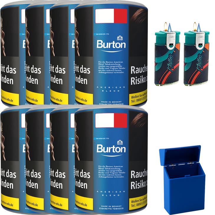 Burton Blue / Blau 8 x 120g mit Duo Feuerzeugen