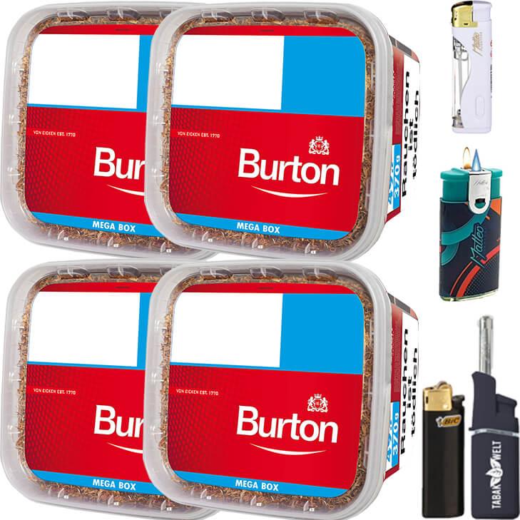 Burton 4 x 350g mit Feuerzeug Set