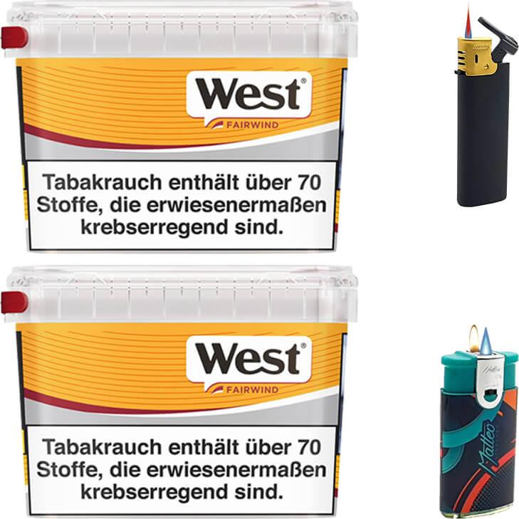 West Yellow Fairwind 2 x 215g mit Feuerzeugen