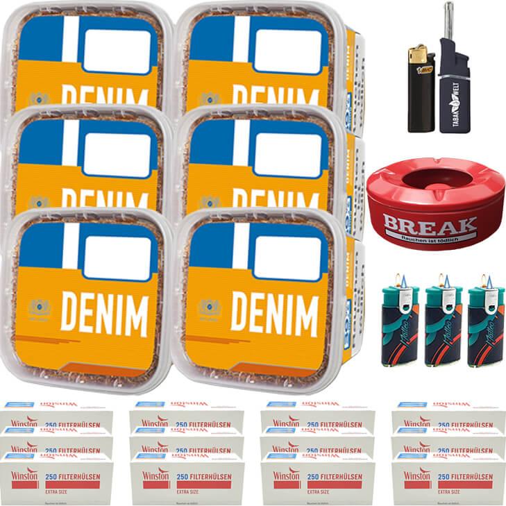 Denim Mega Box 6 x 290g mit 3000 Special Size Hülsen