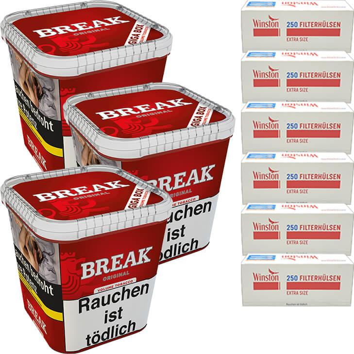 Break Original 3 x 240g mit 1500 Extra Size Hülsen