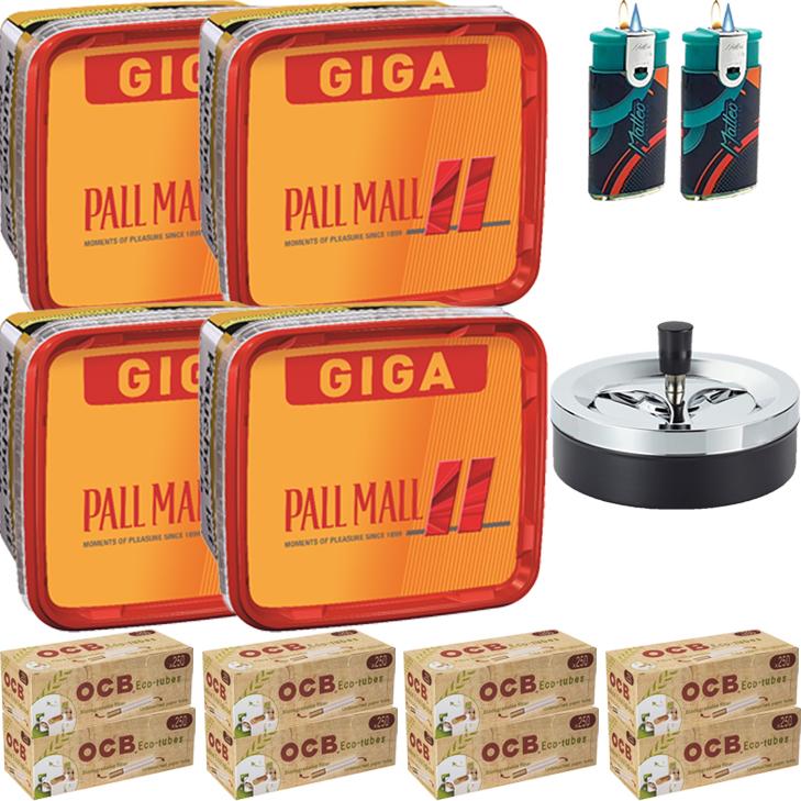 Pall Mall Giga Box 4 x 280g mit 2000  Hülsen