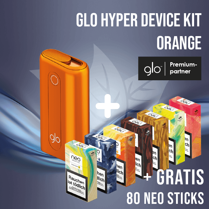 glo hyper Device Kit Orange + Gratis neo Sticks