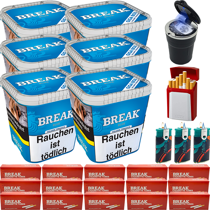 Break Blue / Blau 6 x 240g mit 3000 Hülsen
