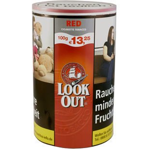 Look Out Red Cigarette Tobacco 100g