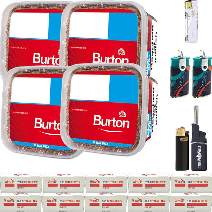 Burton 4 x 350g mit 2000 Hülsen