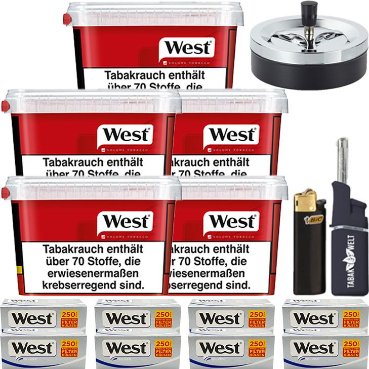 West Red 5 x 170g mit 2000 Siver Special Size Hülsen