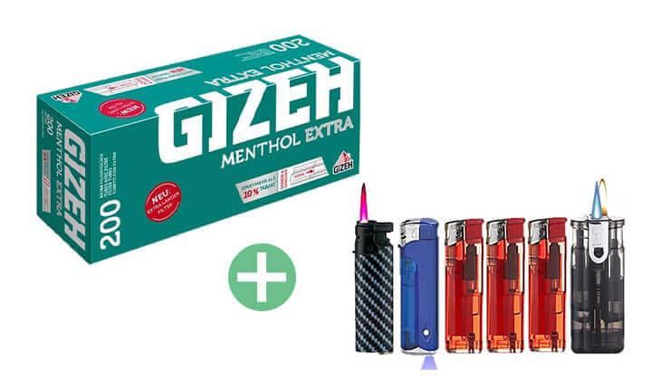 Gizeh Menthol Extra Filterhülsen 25 x 200