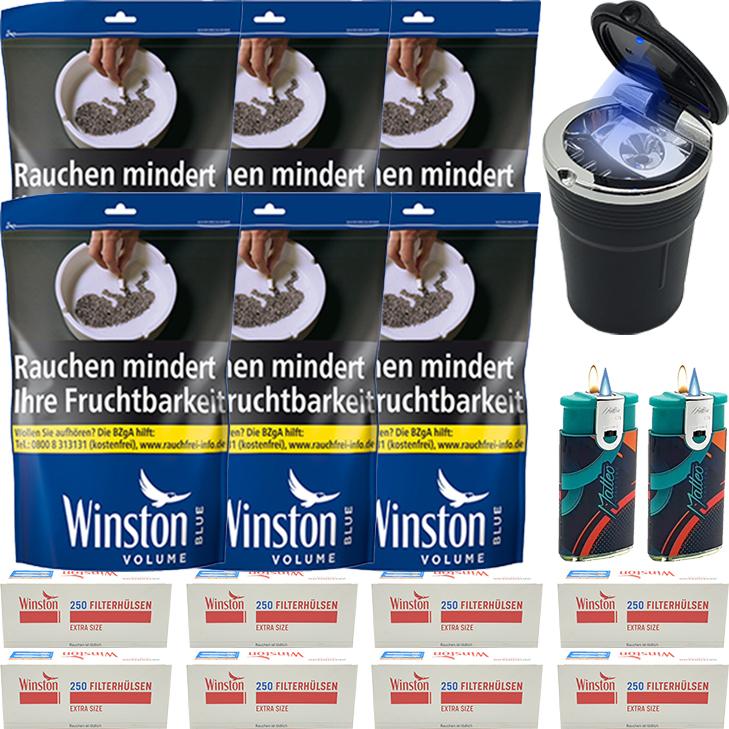 Winston Blue 6 x 135g mit 2000 Special Size Hülsen