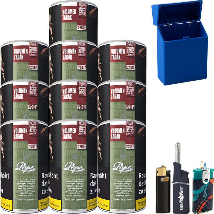 Pepe Rich Green 10 x 85g mit Feuerzeugen