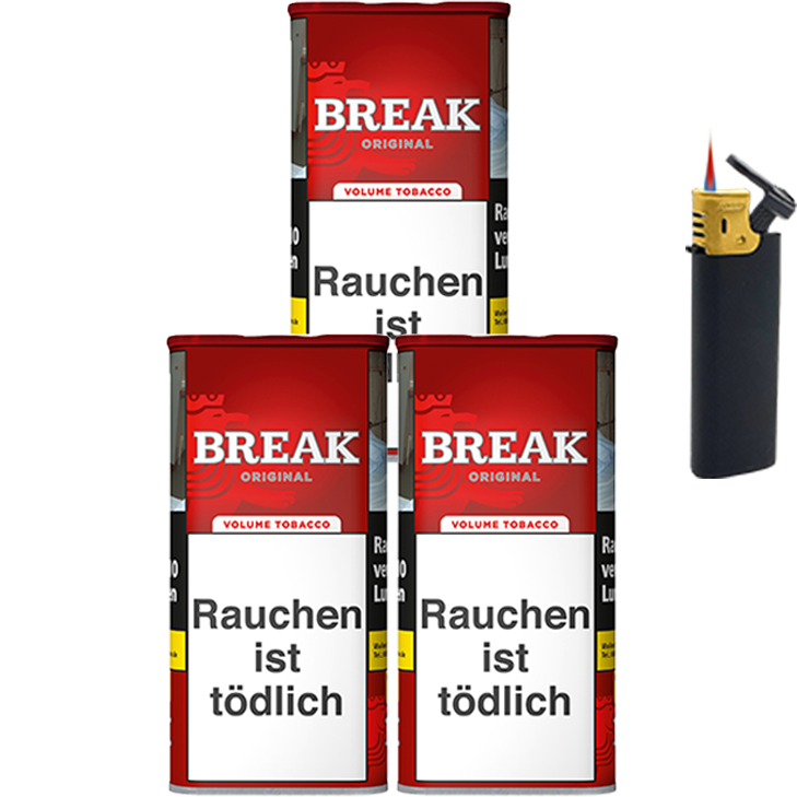 Break Original 3 x 120g mit Sturmfeuerzeug