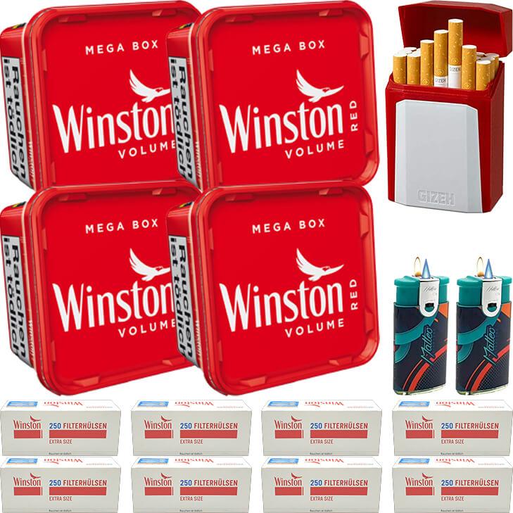 Winston Mega Box 4 x 170g mit 2000 Special Size Hülsen