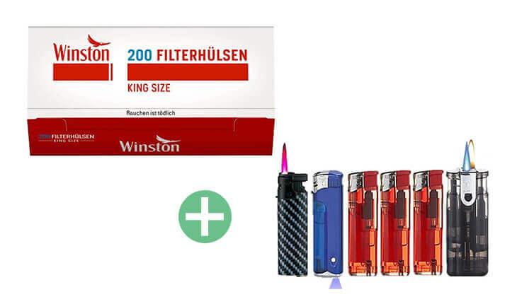 Winston King Size Filterhülsen 25 x 200