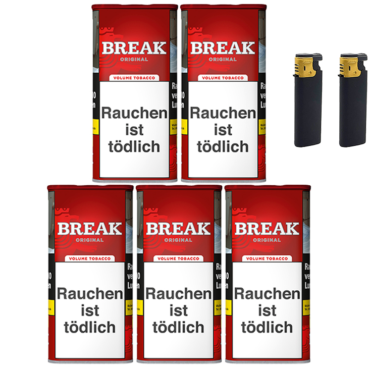 Break Original 5 x 120g mit Sturmfeuerzeuge