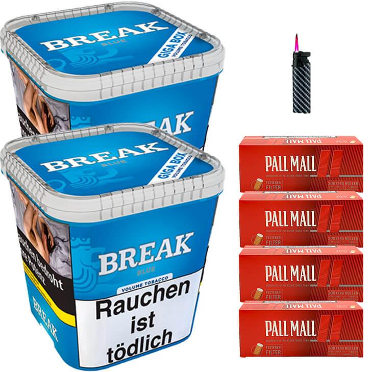 Break Blue / Blau 2 x 230g Volumentabak 800 Special Size Filterhülsen