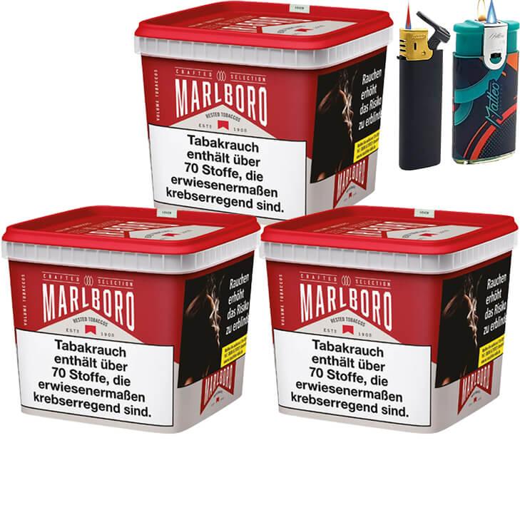 Marlboro Crafted Selection 3 x 270g mit Feuerzeugen