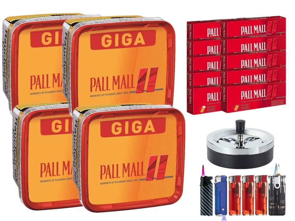 Pall Mall Giga Box 4 x 280g Volumentabak 2000 Filterhülsen Uvm.