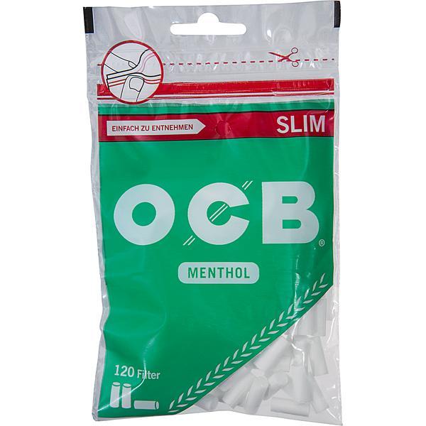 OCB Menthol Filter Slim 10 x 120 Stück