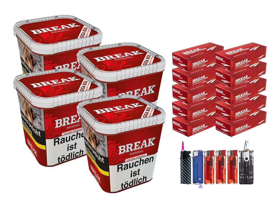 Break Original 4 x 240g Volumentabak 2000 Break Filterhülsen Uvm.