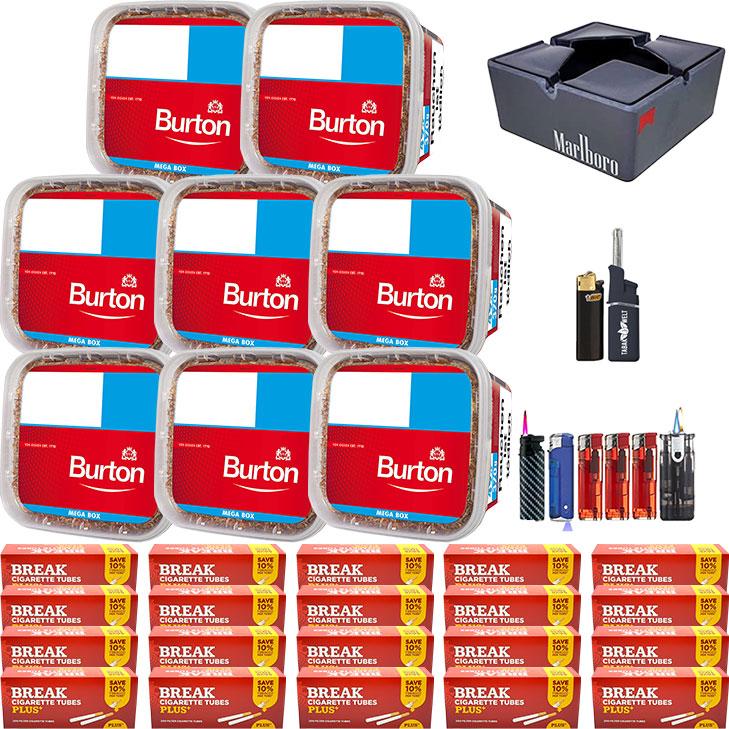 Burton 8 x 350g mit 4000 Filterhülsen Uvm