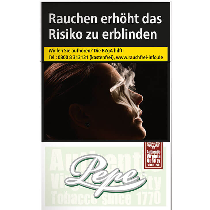 Pepe Fine Green Zigaretten 6,70 €