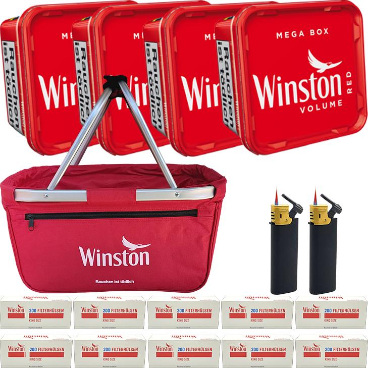 Winston Mega Box 4 x 170g mit 2000 King Size Hülsen