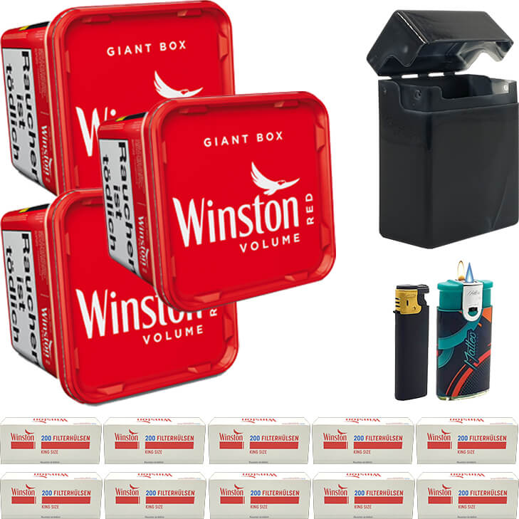 Winston Giant Box 3 x 280g mit 2000 King Size Hülsen