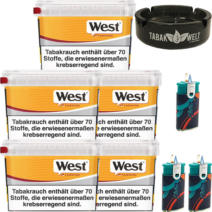West Yellow Fairwind 5 x 215g mit Aschenbecher